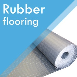 Rubber flooring at Surefit Carpets Leeds