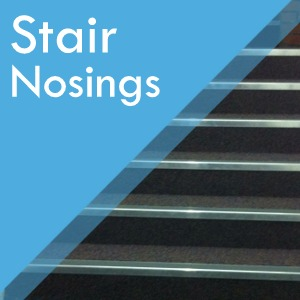 Stair nosings at Surefit Carpets Leeds