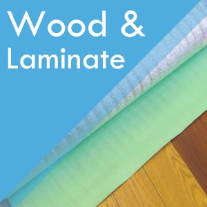 Wood and Laminate flooring underlay at Surefit Carpets Doncaster