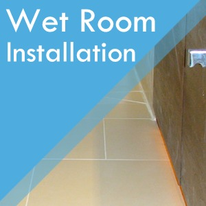 Wet room installation service at Surefit Carpets Chesterfield